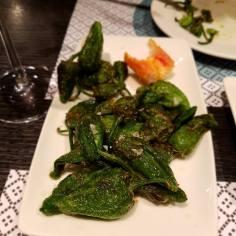 Pimientos de padron (Padron peppers)